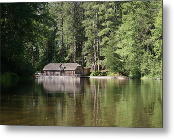 Boathouse On The Brule Metal Print