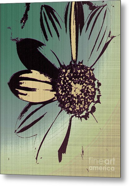 Boating Flower W Metal Print