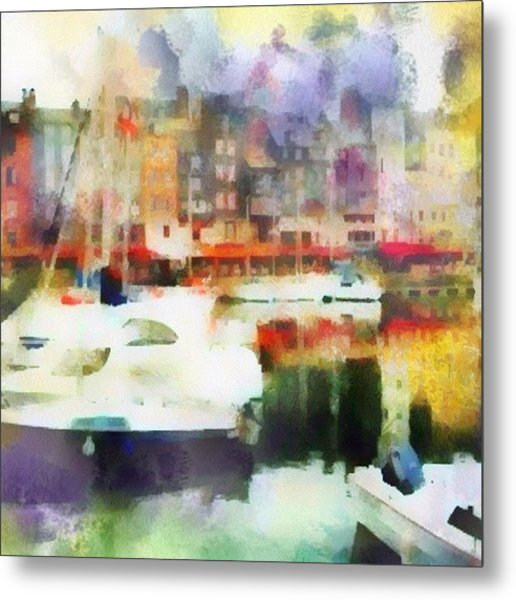 Boating In Honfleur Metal Print