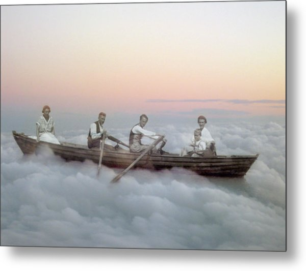 Boating On Clouds Metal Print