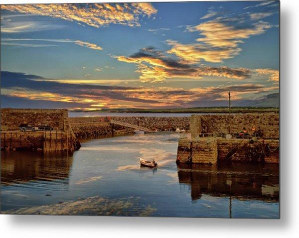 Boatman At Mullaghmore Harbour Metal Print