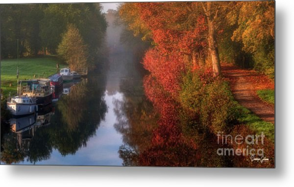 Boats And Channel Metal Print