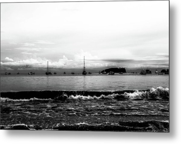 Boats And Clouds Metal Print