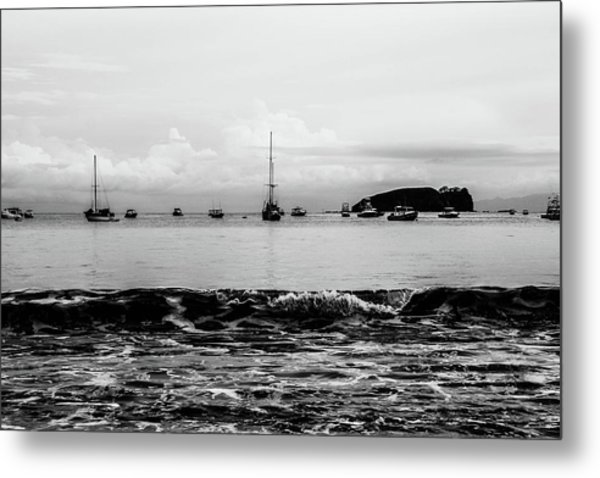 Boats And Waves 2 Metal Print