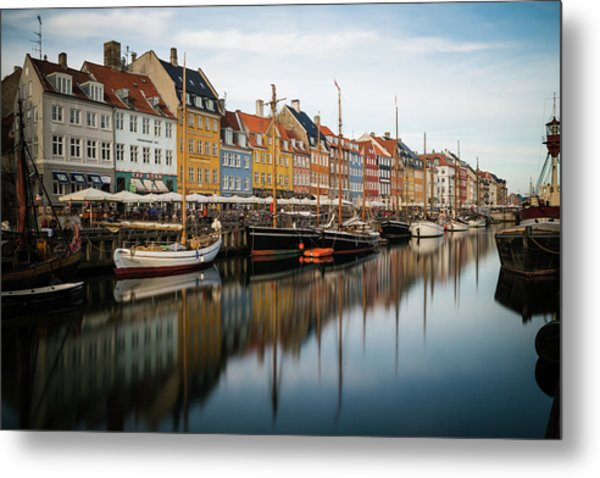 Boats At Nyhavn In Copenhagen Metal Print