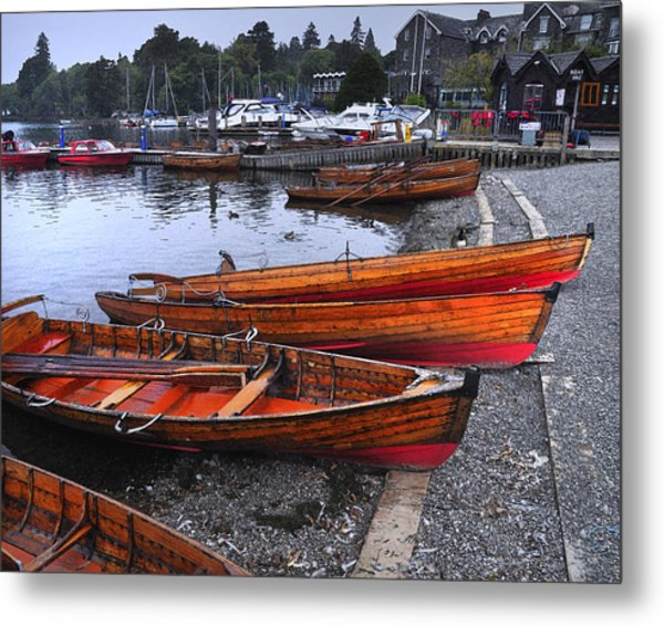 Boats At Windermere Metal Print