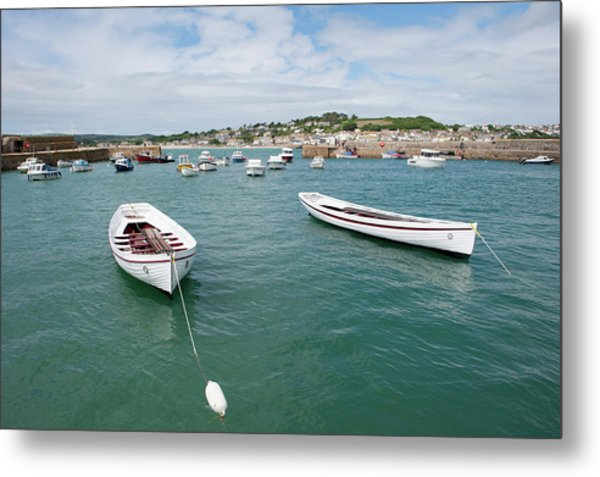 Boats In Habour Metal Print
