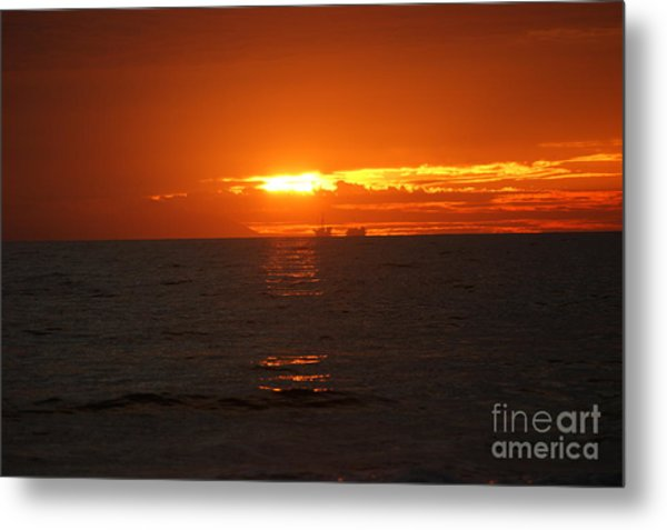 Boats In The Distance  Metal Print by Wendy  Coloma