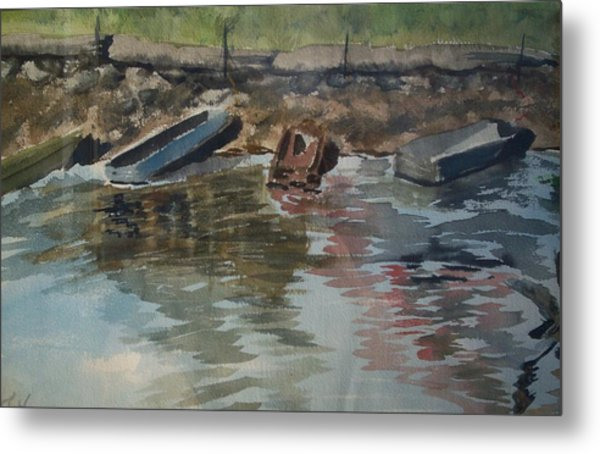 Boats Metal Print by Karen Thompson