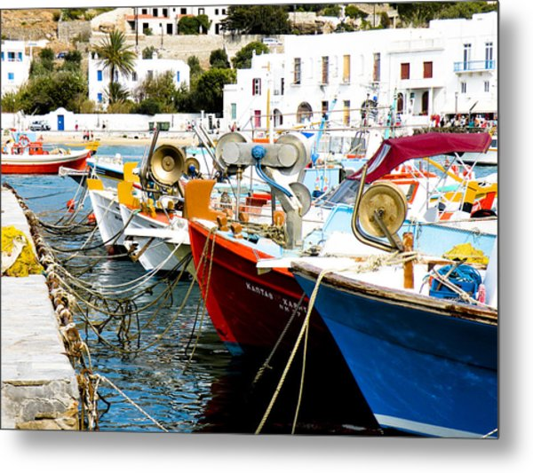 Boats On Parthos Metal Print