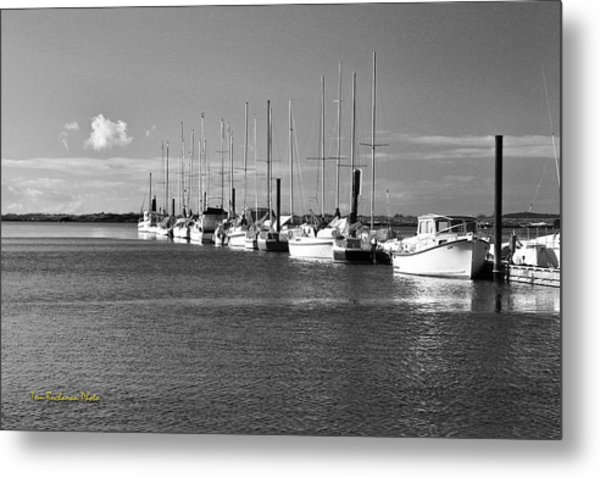 Boats On The Estuary Metal Print