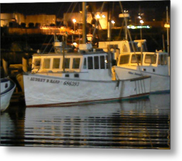 Boats Portland Maine Metal Print by Ron Hayes