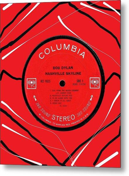 Bob Dylan Nashville Skyline Lp Label Metal Print