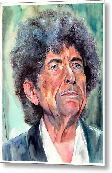 Bob Dylan Watercolor Portrait  Metal Print