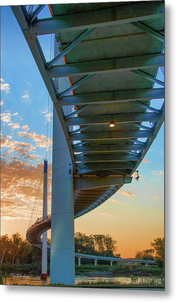 Bob Kerry Bridge At Sunrise-2 Metal Print
