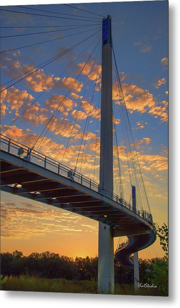 Bob Kerry Bridge At Sunrise Metal Print