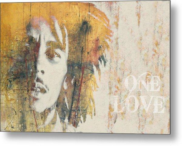 Bob Marley  - One Love Metal Print