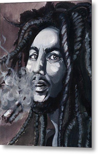 Bob Marley Portrait Metal Print