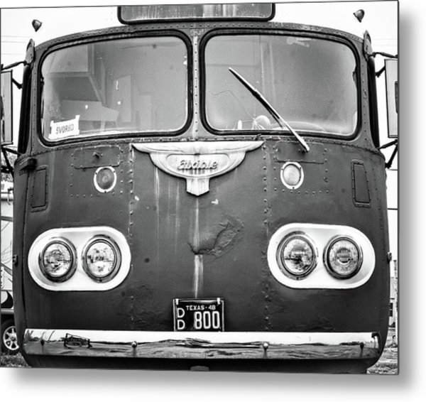 Bob Wills Tour Bus Bw Metal Print