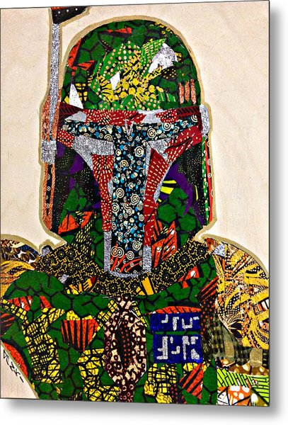 Boba Fett Star Wars Afrofuturist Collection Metal Print