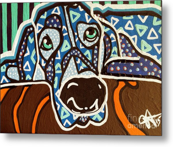 Bobby Blue Eyes Metal Print