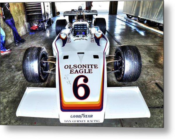 Bobby Unser's 1972 Indianapolis 500 Car. Metal Print