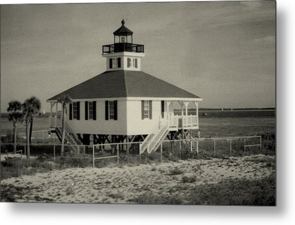 Boca Grande Lighthouse Metal Print by Lois Lepisto