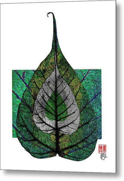 Bodhi Leaf Metal Print