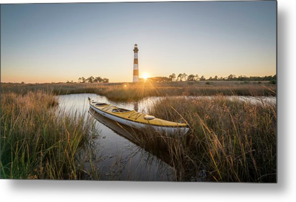 Bodie Island Kayak Metal Print by Michael Donahue
