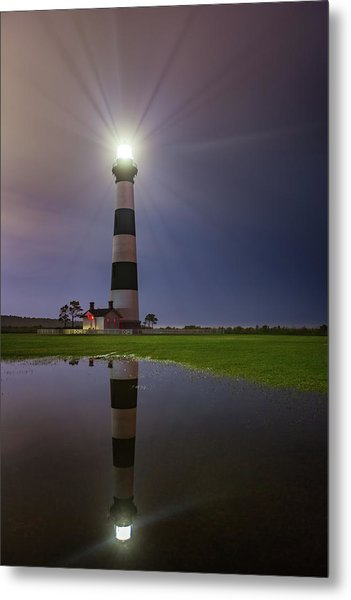 Bodie Island Lighthouse Reflection Metal Print
