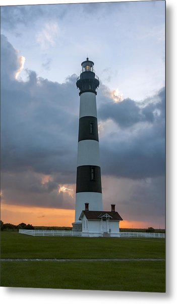 Bodie Island Lighthouse Sunset Metal Print