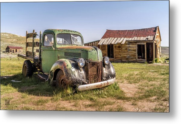 Metal Print featuring the photograph Bodie Pickup Truck by Geoffrey Lewis