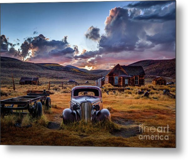 Bodie's 1937 Chevy At Sunset Metal Print