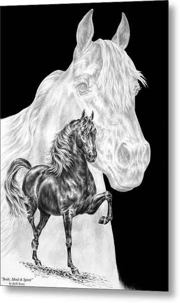 Body Mind And Spirit - Morgan Horse Print  Metal Print