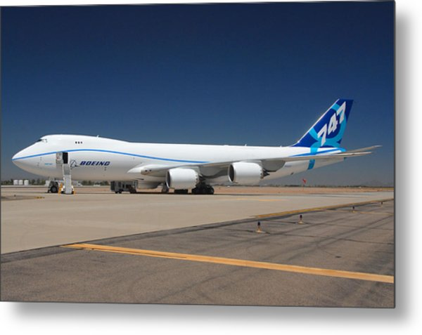 Boeing 747-8 N50217 At Phoenix-mesa Gateway Airport Metal Print