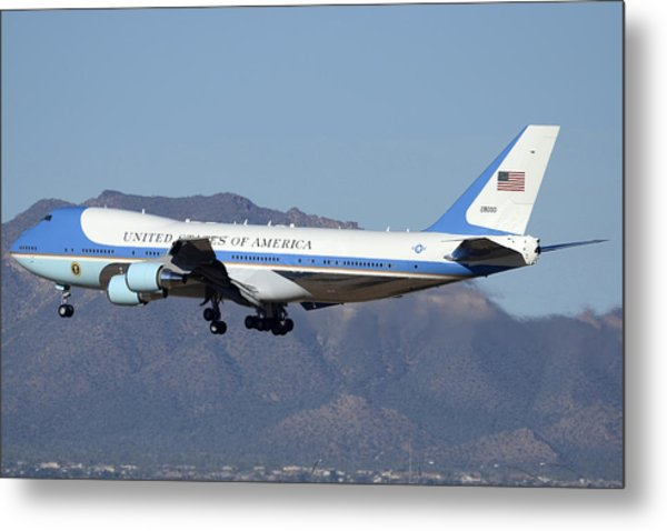 Boeing Vc-25a 82-8000 Air Force One Phoenix-mesa Gateway Airport January 25 2012 Metal Print