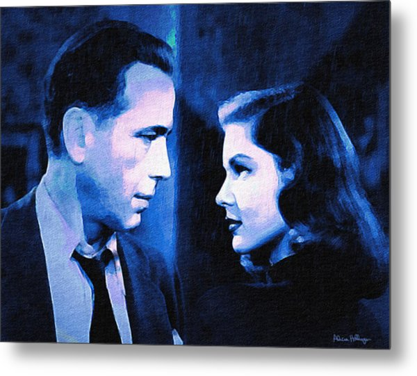 Bogart And Bacall - The Big Sleep Metal Print