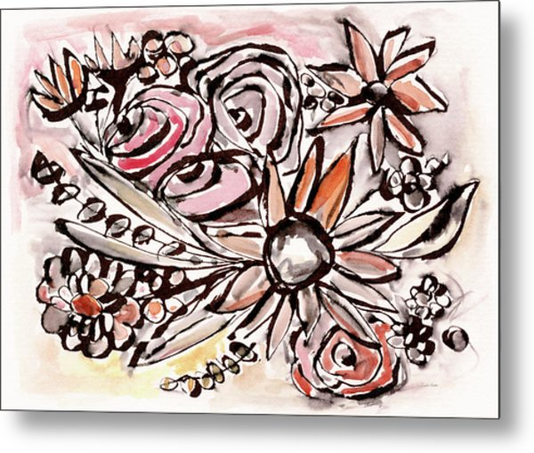 Bohemian Garden 1- Art By Linda Woods Metal Print