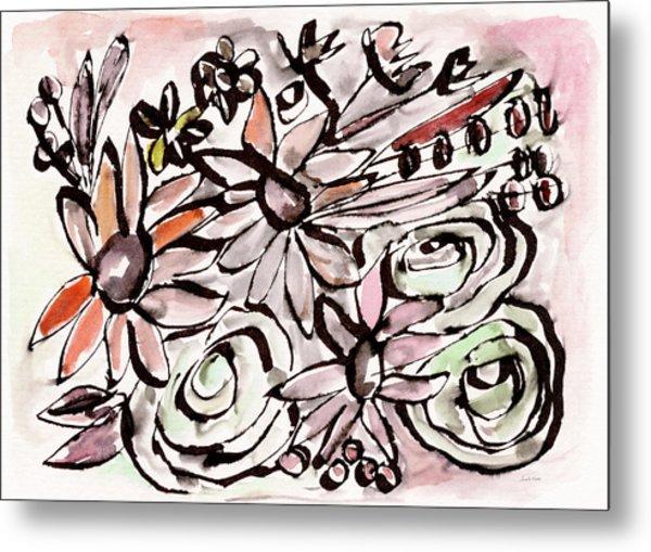 Bohemian Garden 2- Art By Linda Woods Metal Print