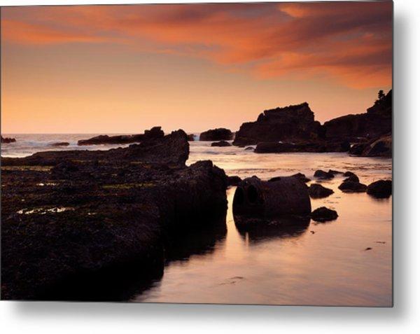 Boiler Bay Sunset Metal Print