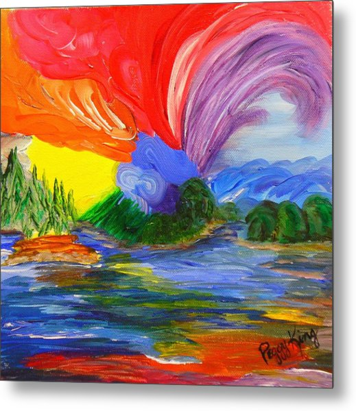 Bold New Day - Or A Trip Around My Palette Metal Print
