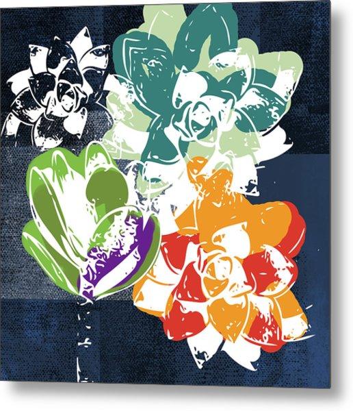 Bold Succulents 1- Art By Linda Woods Metal Print