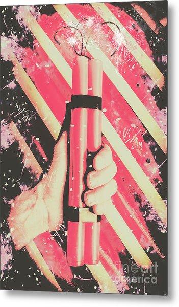 Bomber Man Hand Metal Print