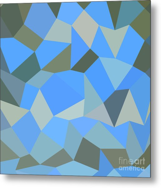 Bondi Blue Abstract Low Polygon Background Metal Print by Aloysius Patrimonio