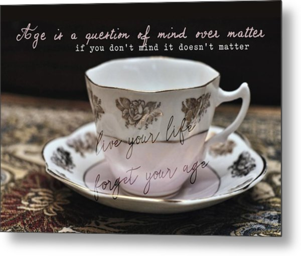Bone China Quote Metal Print by JAMART Photography