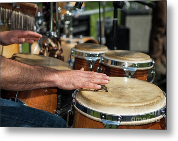 Bongo Hand Drums Metal Print