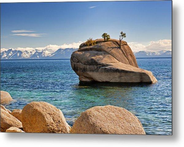 Bonsai Rock At Lake Tahoe Metal Print
