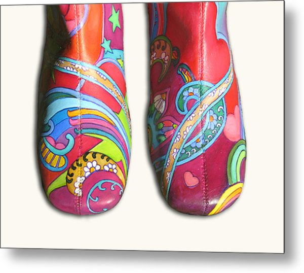 Boogie Shoes Metal Print by Mary Johnson