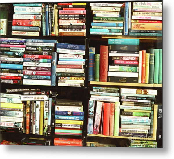 Book Shop Metal Print