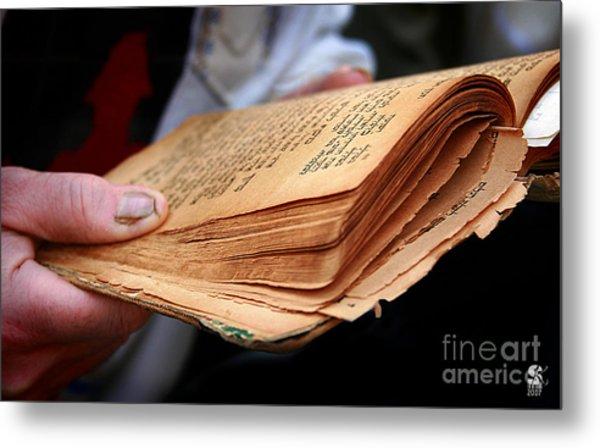 Book Torah Metal Print by Stas Krupetsky